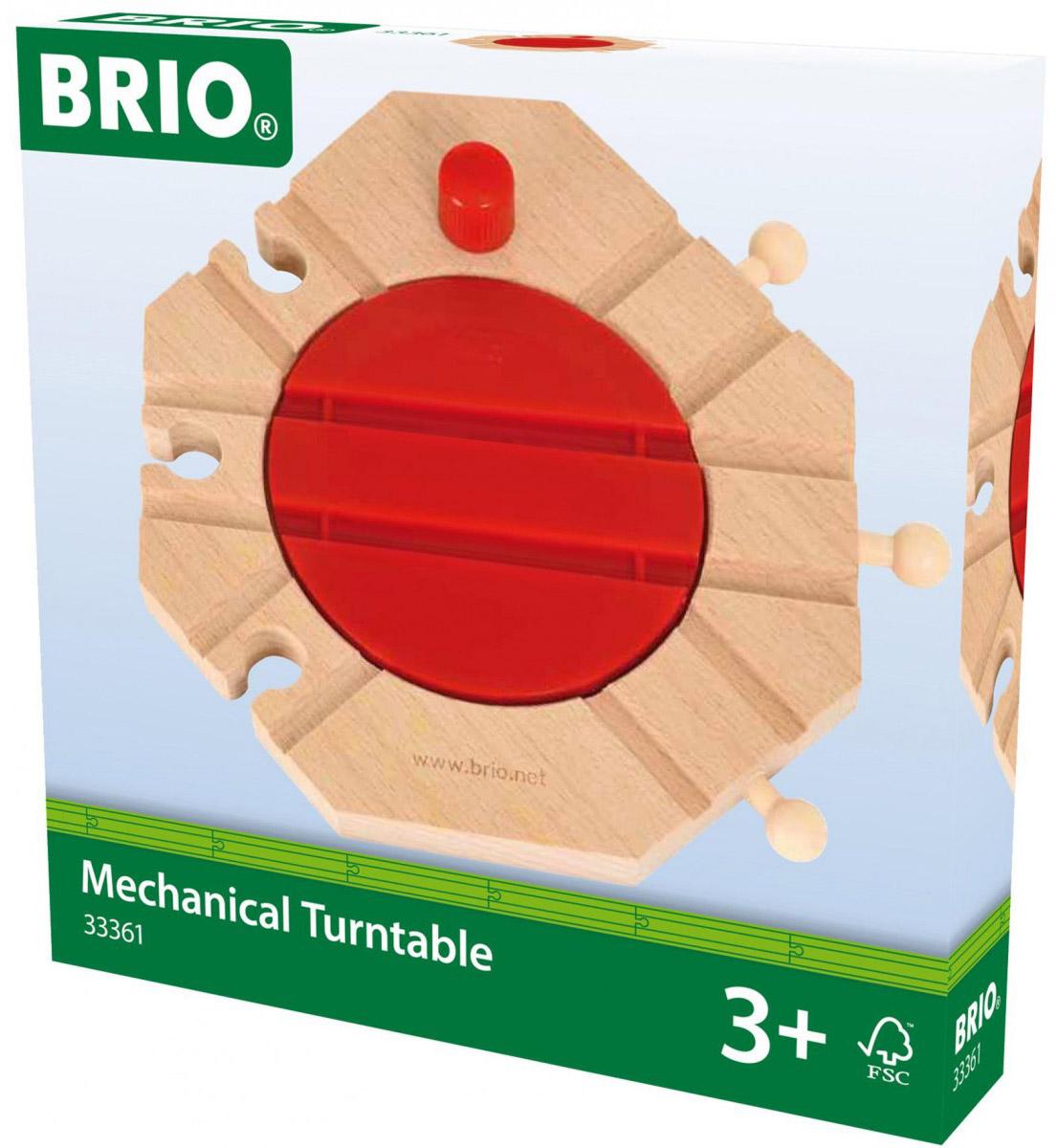 Brio Механический перекресток для железнодорожного полотна33361Механический перекресток железной дороги Brio оснащен механизмом для вращения (360 градусов), который изменяет направление движения железнодорожных поездов. Лучше всего использовать перекресток для изменения направления движения паровозов Brio.