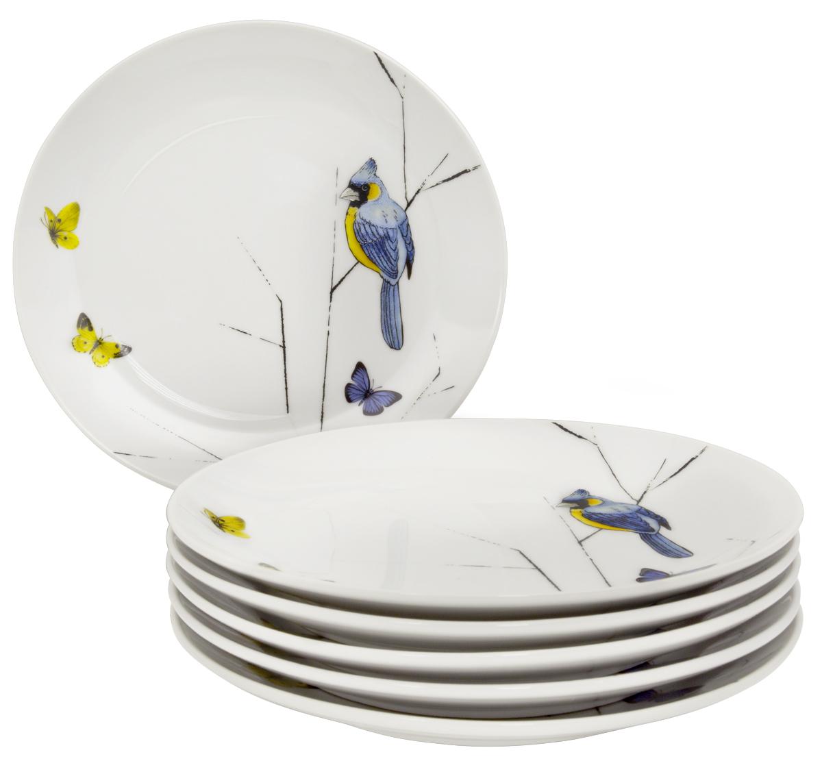 Тарелка десертная Esprado Primavera, 20,5 см, 6 шт. PRM021YE301PRM021YE301Тарелка десертная, 20,5 см, твердый фарфор, Primavera, Esprado, PRM021YE301