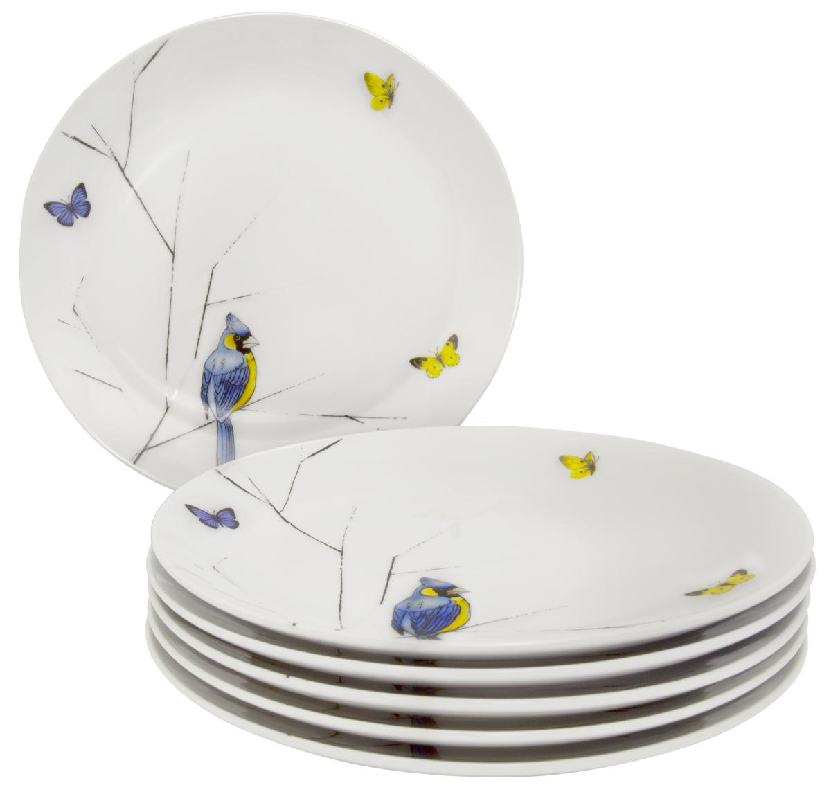 Тарелка обеденная Esprado Primavera, 24,5 см, 6 шт. PRM024YE301PRM024YE301Тарелка обеденная, 24,5 см, твердый фарфор, Primavera, Esprado, PRM024YE301