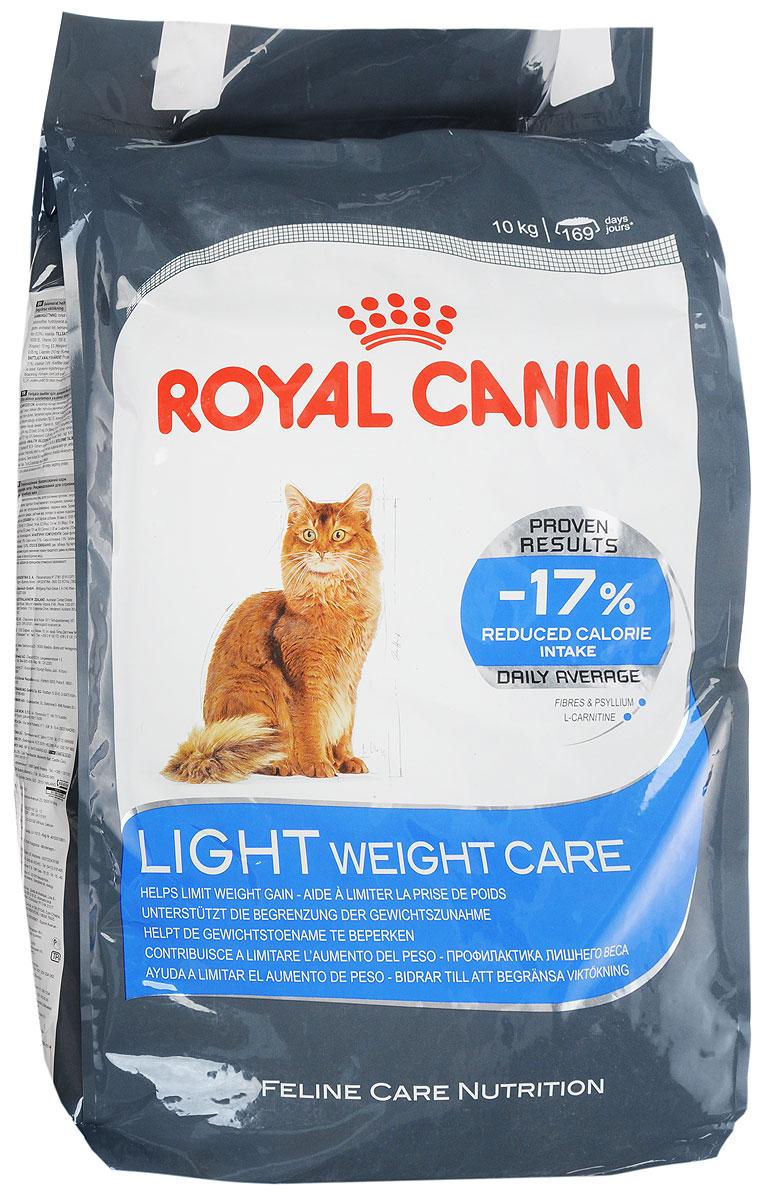 Корм сухой Royal Canin Light Weight Care, для взрослых кошек, для профилактики избыточного веса, 10 кг00667_кошкиСухой корм Royal Canin Light Weight Care является полнорационным сбалансированным кормом для взрослых кошек, склонных к избыточному весу. Содержание клетчатки и подорожника позволяет на 17% снизить калории, получаемые кошкой, при этом полностью удовлетворяя ее аппетит. Высокое содержание белка помогает сохранять мышечную массу, а L-карнитин способствует сжиганию жиров. Состав: изолят растительных белков, дегидратированные белки животного происхождения (птица), злаки, растительная клетчатка, рис, гидролизат белков животного происхождения, животные жиры, минеральные вещества, свекольный жом, дрожжи, рыбий жир, оболочки и семена подорожника 0,5%, соевое масло. Добавки в 1 кг: витамин А 19100 МЕ, витамин D3 700 МЕ, железо 32 мг, йод 3,2 мг, марганец 42 мг, цинк 126 мг, селен 0,05 мг, L-карнитин 210 мг. Содержание питательных веществ: белки 40%, жиры 10%, минеральные вещества 7,4%, клетчатка пищевая 8,4%, общая клетчатка 15,8%, медь 15 мг/кг. Товар...