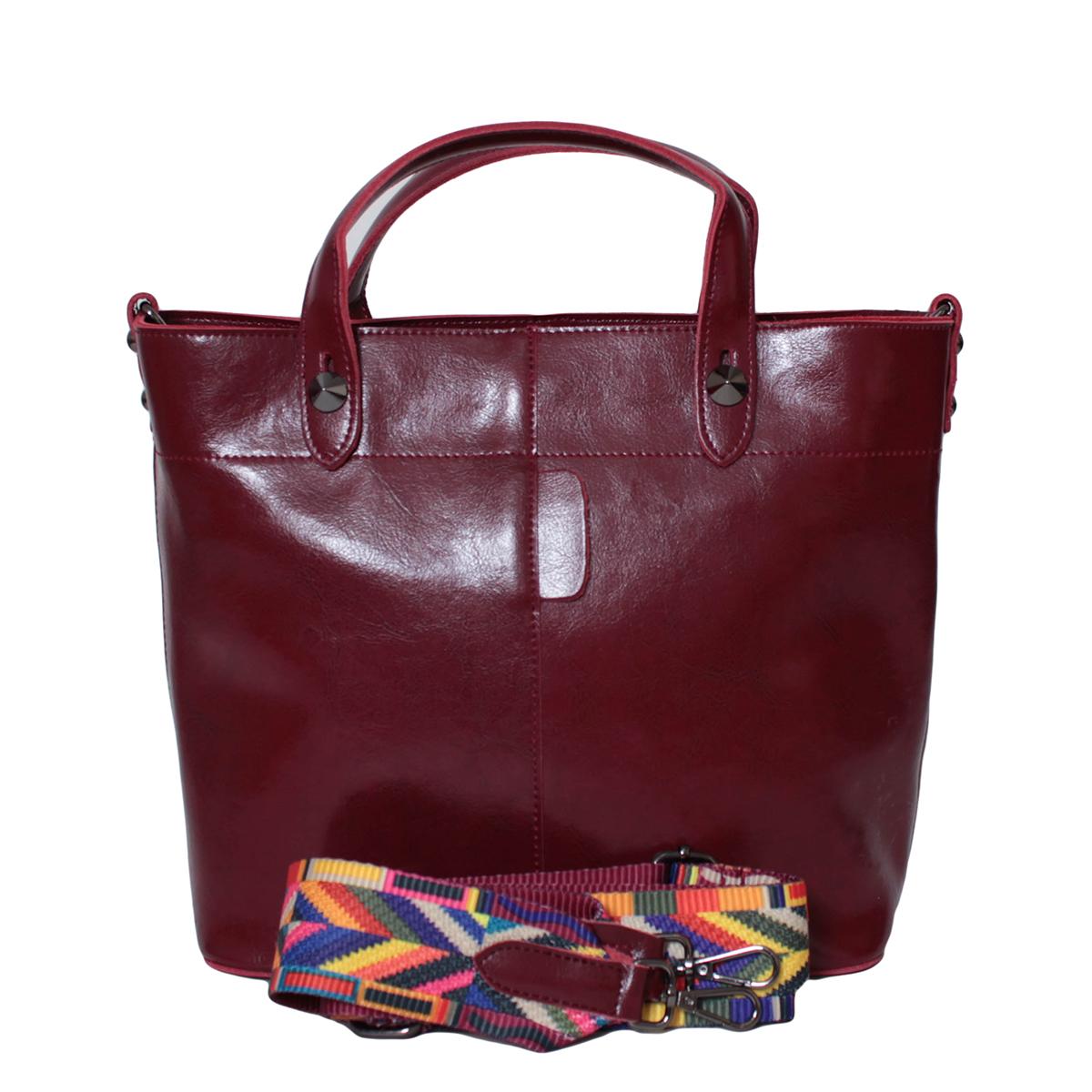 Сумка женская Flioraj, цвет: красный. 0005299300052993Закрывается на молнию. Внутри два отделения, два кармана на молнии, два для мобильного телефона. В комплекте длинный ремень. Высота ручек 10 см.