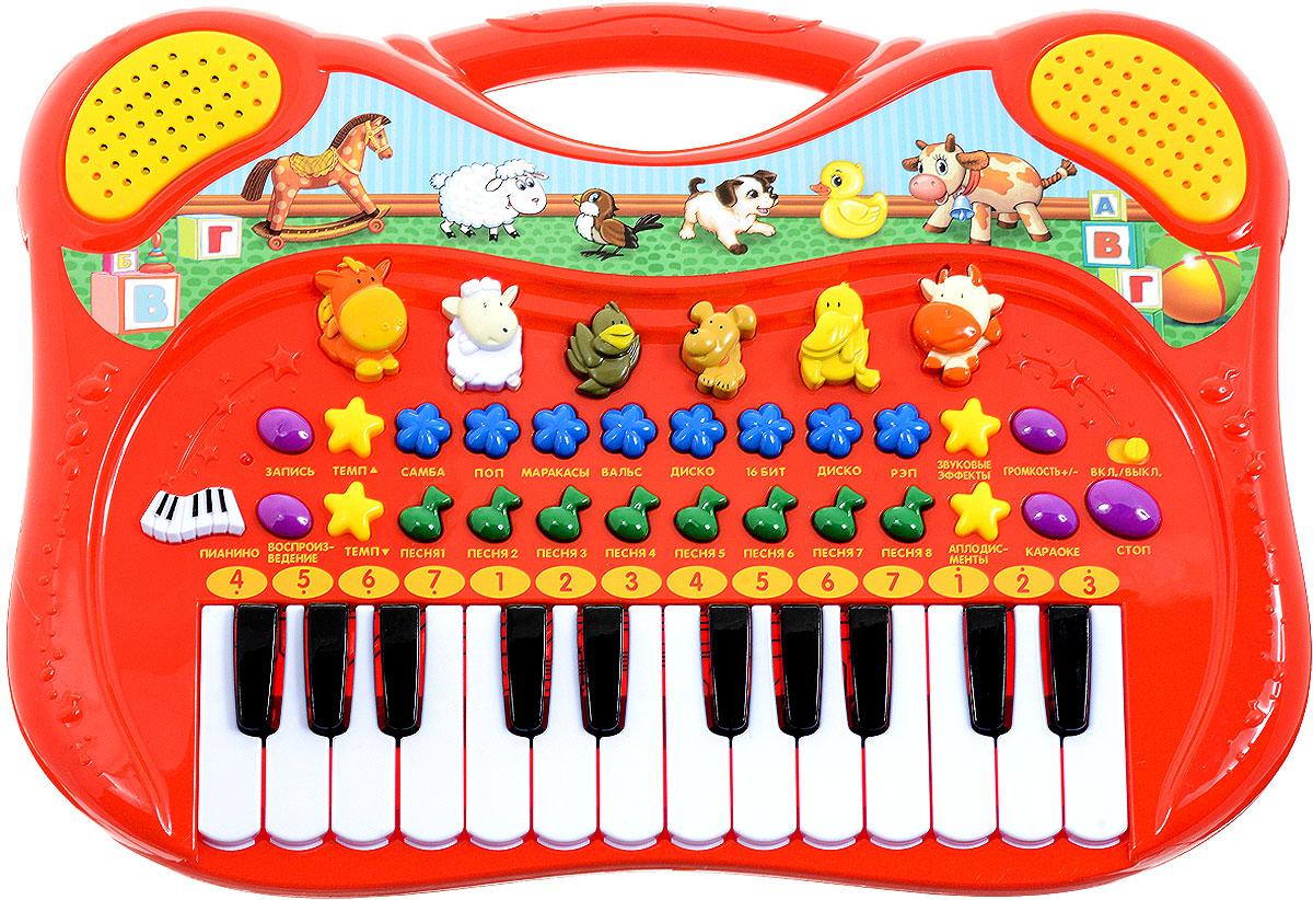 Умка ПианиноB969-H29076-RПианино Умка с функцией записи, несомненно, станет отличным приобретением для творческих детей. Пианино содержит в себе звуковые эффекты, 8 караоке-мелодий и, самое главное, стихи Агнии Барто и песни на стихи данной писательницы. Музыкальный инструмент разовьет в ребенке чувство ритма, слуховое, зрительное восприятие и мелкую моторику. Рекомендуется докупить 3 батарейки напряжением 1,5V типа АА (товар комплектуется демонстрационными).