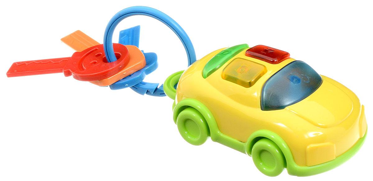 1TOY Развивающая игрушка Автоключики с машинкой цвет ключей красный зеленый оранжевыйТ59299Развивающая игрушка 1TOY Автоключики непременно заинтересует малыша. Игрушка изготовлена из безопасного пластика, оснащена световыми и звуковыми эффектами. На кольце-карабине разместились цветные ключики и автомобиль с кнопками. Нажимая на кнопки, ребенок сможет услышать разные звуки автомобиля и понаблюдать за мерцающими огоньками. Когда малыш немного подрастет, он сможет играть отдельно с машинкой. А пока смело прикрепляйте автоключики к сумке или кроватке, и ваш ребенок абсолютно точно не заскучает в дороге или на прогулке. Играя с музыкальным Автоключиками, ребенок развивает мелкую моторику рук, световое и звуковое восприятие. Для работы игрушки необходимы 2 батарейки ААА (комплектуется демонстрационными).