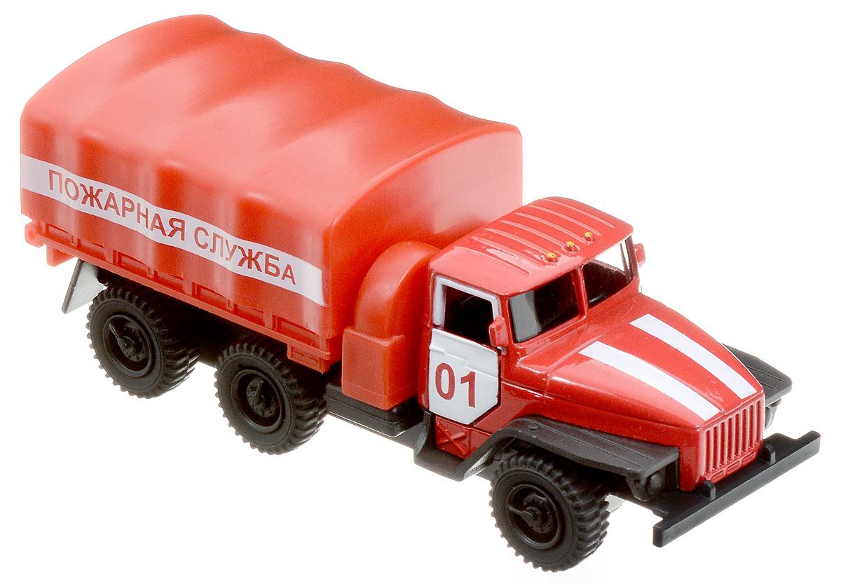 ТехноПарк Машина инерционная Урал Пожарная службаSB-15-35-T11-WBМашина ТехноПарк, выполненная из пластика и металла, станет любимой игрушкой вашего малыша. Игрушка представляет собой модель Урала в виде пожарной службы. Дверцы кабины открываются. Модель оснащена инерционным ходом. Прорезиненные колеса обеспечивают надежное сцепление с любой поверхностью пола. Ваш ребенок будет часами играть с этой машинкой, придумывая различные истории. Подарите вашему малышу возможность почувствовать себя настоящим водителем.