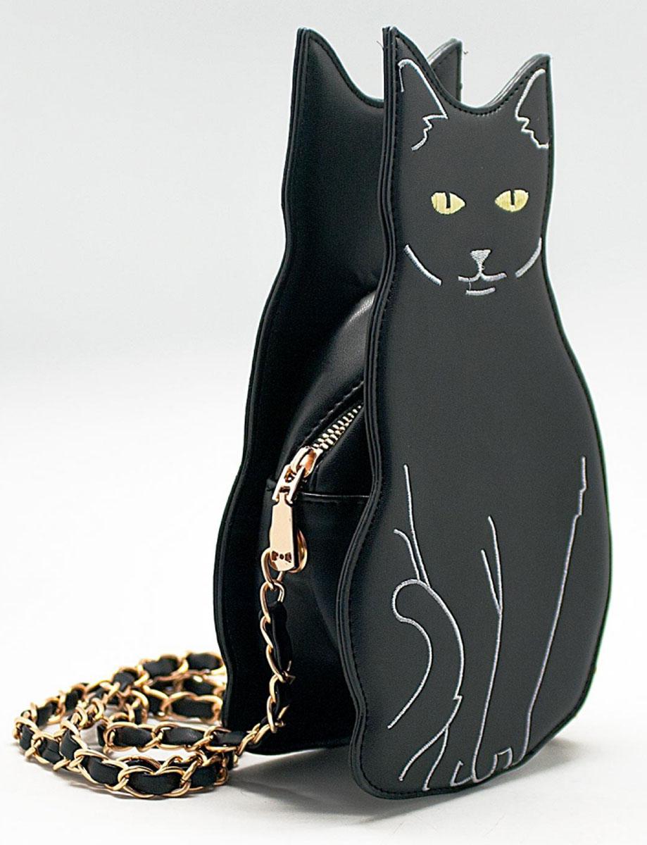 Сумка женская Kawaii Factory Кот, цвет: черный. KW100-000138KW100-000138