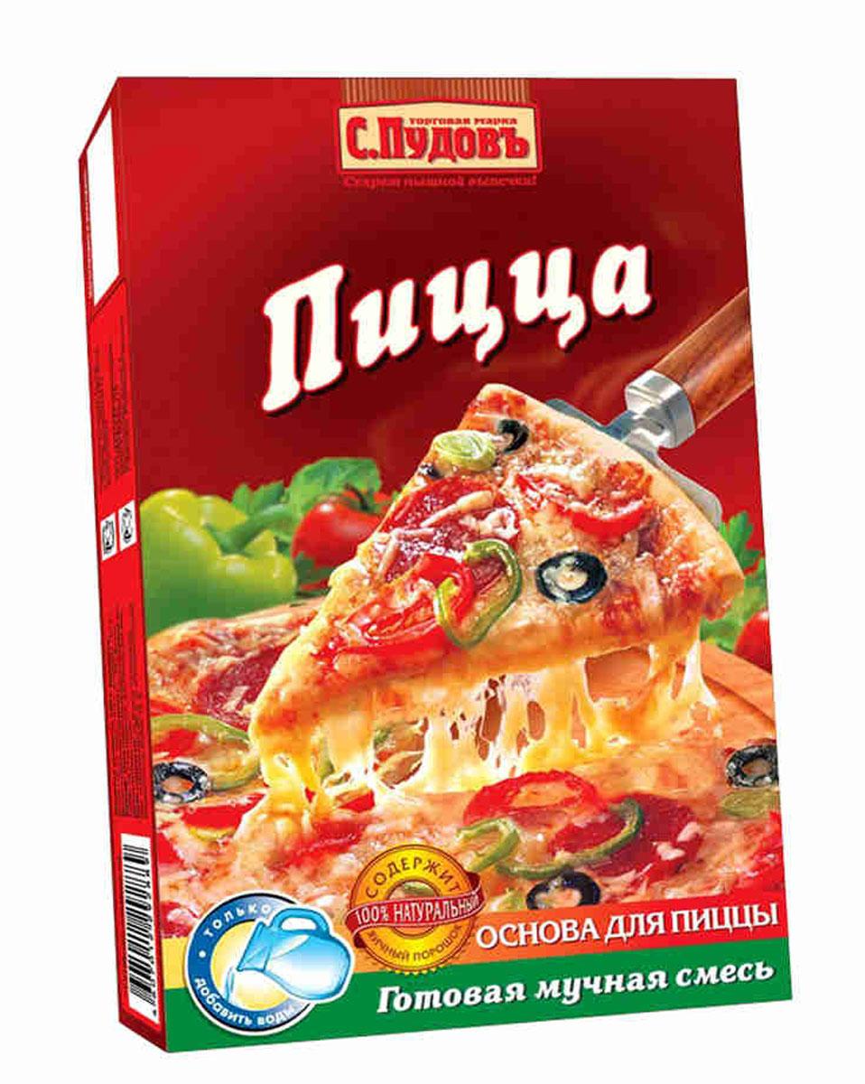 С. Пудовъ цельнозерновая пицца, 350 г
