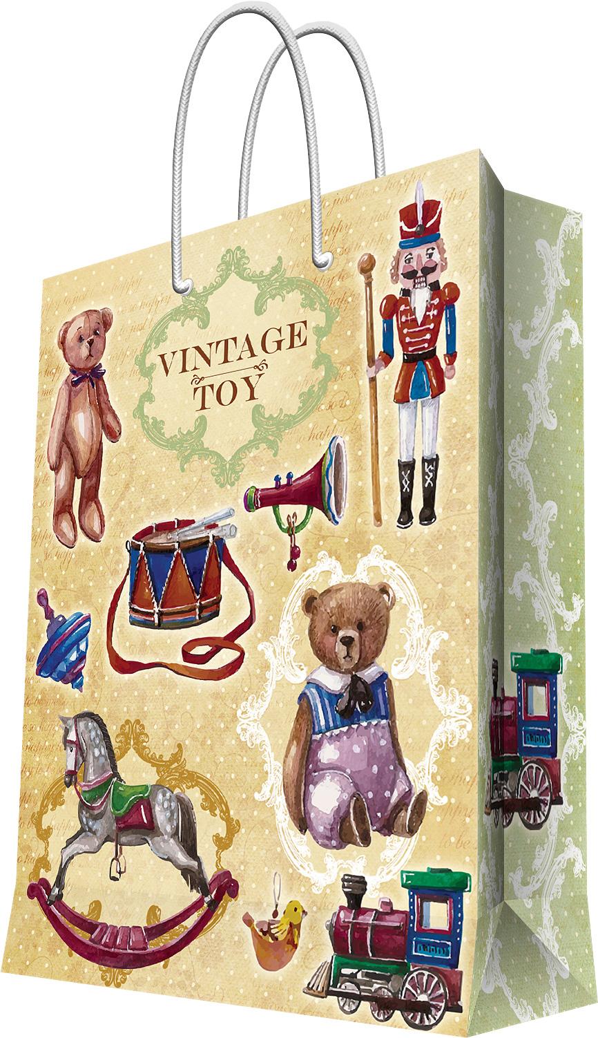 Пакет подарочный Magic Home Сказочные игрушки, 17,8 х 22,9 х 9,8 см44184Подарочный пакет Magic Home, изготовленный из плотной бумаги, станет незаменимым дополнением к выбранному подарку. Дно изделия укреплено картоном, который позволяет сохранить форму пакета и исключает возможность деформации дна под тяжестью подарка. Пакет выполнен с глянцевой ламинацией, что придает ему прочность, а изображению - яркость и насыщенность цветов. Для удобной переноски имеются две ручки в виде шнурков. Подарок, преподнесенный в оригинальной упаковке, всегда будет самым эффектным и запоминающимся. Окружите близких людей вниманием и заботой, вручив презент в нарядном, праздничном оформлении. Плотность бумаги: 140 г/м2.