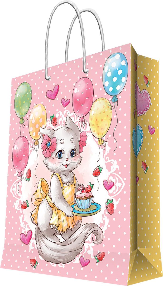 Пакет подарочный Magic Home Кошечка в фартуке, 40,6 х 48,9 х 19 см44215Бумажный пакет для сувенирной продукции , с ламинацией, с шириной основания 40,6 см, плотность бумаги 157 г/м2