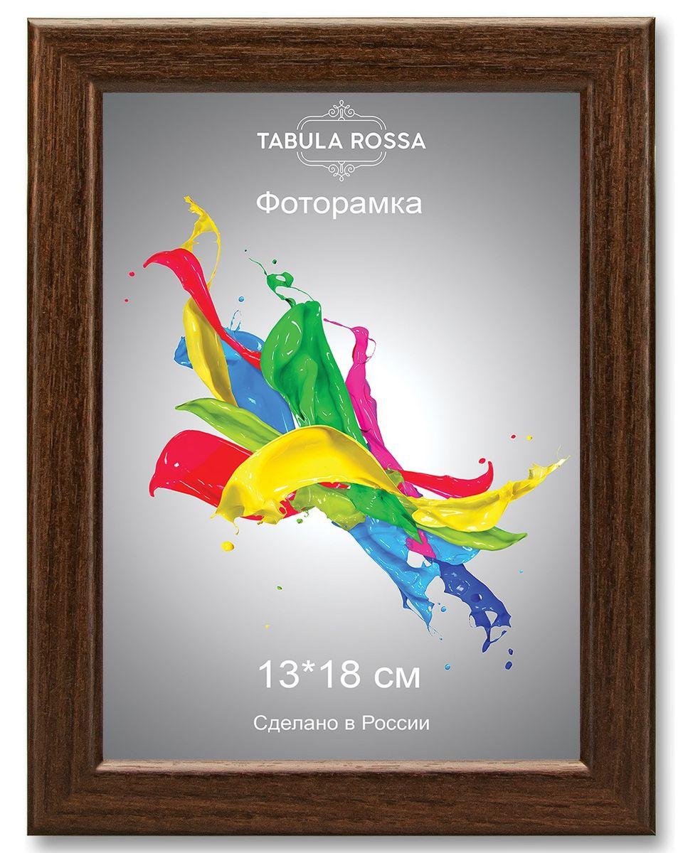 Фоторамка Tabula Rossa, цвет: венге, 13 х 18 см. ТР 5027ТР 5027Фоторамка Tabula Rossa выполнена в классическом стиле из высококачественного МДФ и стекла, защищающего фотографию. Оборотная сторона рамки оснащена специальной ножкой, благодаря которой ее можно поставить на стол или любое другое место в доме или офисе. Также изделие дополнено двумя специальными креплениями для подвешивания на стену. Такая фоторамка не теряет своих свойств со временем, не деформируется и не выцветает. Она поможет вам оригинально и стильно дополнить интерьер помещения, а также позволит сохранить память о дорогих вам людях и интересных событиях вашей жизни.