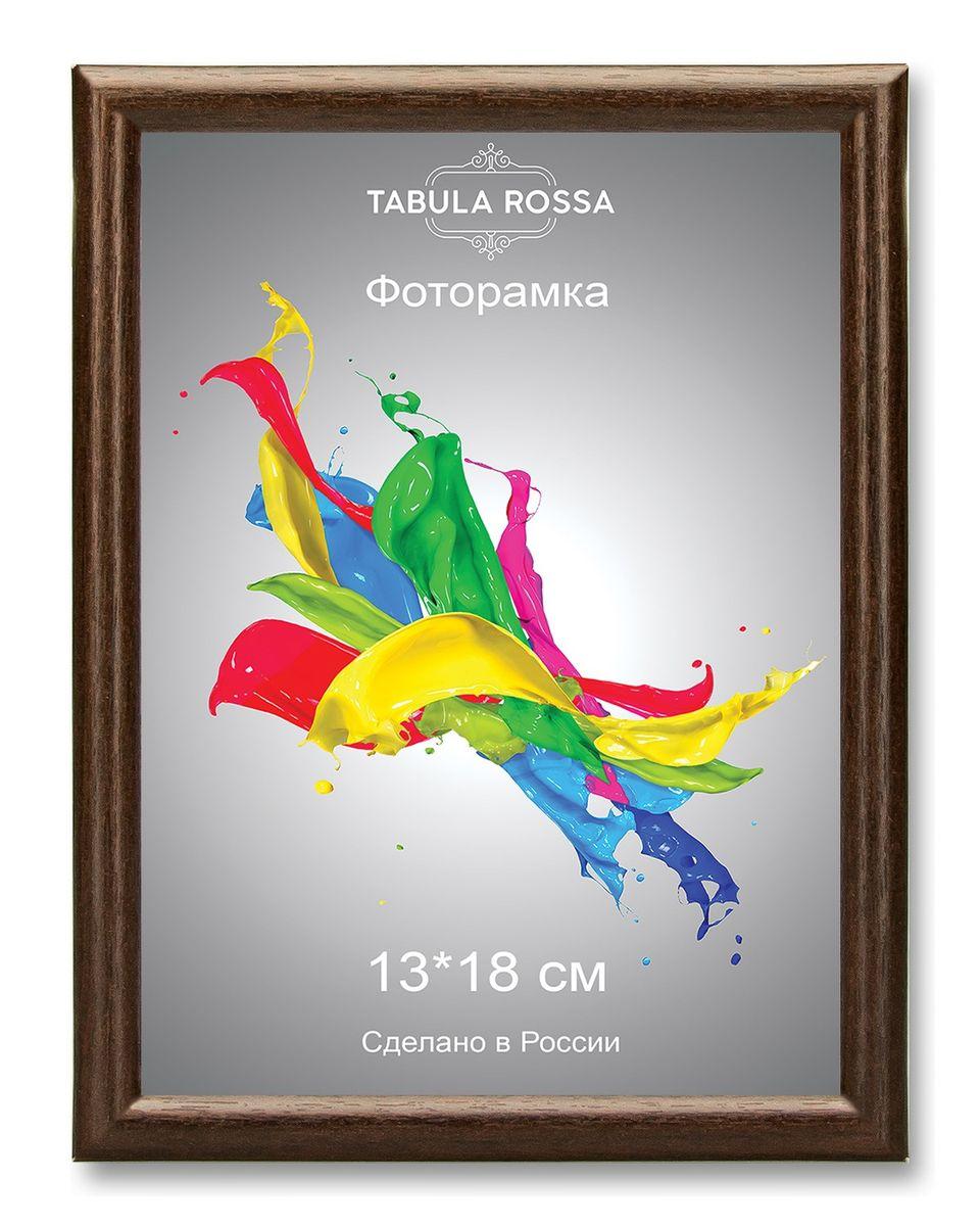 Фоторамка Tabula Rossa, цвет: венге, 13 х 18 см. ТР 6002ТР 6002Фоторамка Tabula Rossa выполнена в классическом стиле из высококачественного МДФ и стекла, защищающего фотографию. Оборотная сторона рамки оснащена специальной ножкой, благодаря которой ее можно поставить на стол или любое другое место в доме или офисе. Также изделие дополнено двумя специальными креплениями для подвешивания на стену. Такая фоторамка не теряет своих свойств со временем, не деформируется и не выцветает. Она поможет вам оригинально и стильно дополнить интерьер помещения, а также позволит сохранить память о дорогих вам людях и интересных событиях вашей жизни.