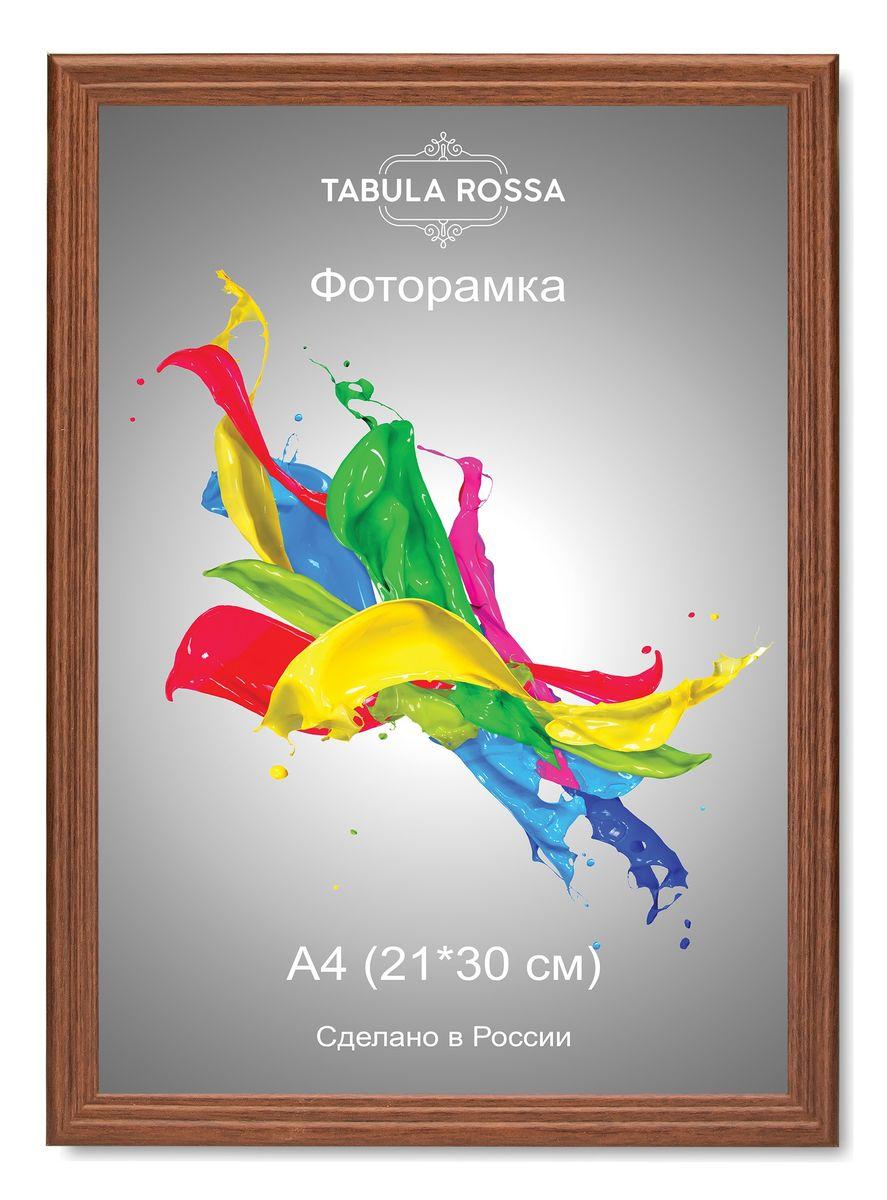 Фоторамка Tabula Rossa, цвет: орех, 21 х 30 см. ТР 6017ТР 6017Фоторамка Tabula Rossa выполнена в классическом стиле из высококачественного МДФ и стекла, защищающего фотографию. Оборотная сторона рамки оснащена специальной ножкой, благодаря которой ее можно поставить на стол или любое другое место в доме или офисе. Также изделие дополнено двумя специальными креплениями для подвешивания на стену. Такая фоторамка не теряет своих свойств со временем, не деформируется и не выцветает. Она поможет вам оригинально и стильно дополнить интерьер помещения, а также позволит сохранить память о дорогих вам людях и интересных событиях вашей жизни.
