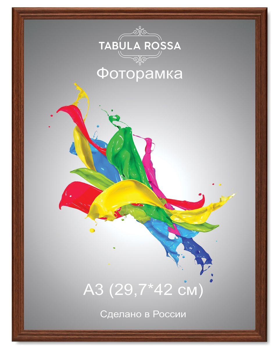 Фоторамка Tabula Rossa, цвет: орех, 29,7 х 42 см. ТР 6018ТР 6018Фоторамка Tabula Rossa выполнена в классическом стиле из высококачественного МДФ и стекла, защищающего фотографию. Оборотная сторона рамки оснащена специальной ножкой, благодаря которой ее можно поставить на стол или любое другое место в доме или офисе. Также изделие дополнено двумя специальными креплениями для подвешивания на стену. Такая фоторамка не теряет своих свойств со временем, не деформируется и не выцветает. Она поможет вам оригинально и стильно дополнить интерьер помещения, а также позволит сохранить память о дорогих вам людях и интересных событиях вашей жизни.
