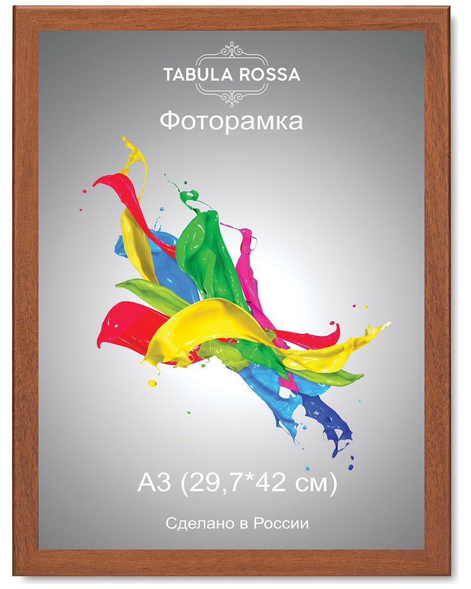 Фоторамка Tabula Rossa, цвет: орех, 29,7 х 42 см. ТР 6026ТР 6026Фоторамка Tabula Rossa выполнена в классическом стиле из высококачественного МДФ и стекла, защищающего фотографию. Оборотная сторона рамки оснащена специальной ножкой, благодаря которой ее можно поставить на стол или любое другое место в доме или офисе. Также изделие дополнено двумя специальными креплениями для подвешивания на стену. Такая фоторамка не теряет своих свойств со временем, не деформируется и не выцветает. Она поможет вам оригинально и стильно дополнить интерьер помещения, а также позволит сохранить память о дорогих вам людях и интересных событиях вашей жизни.