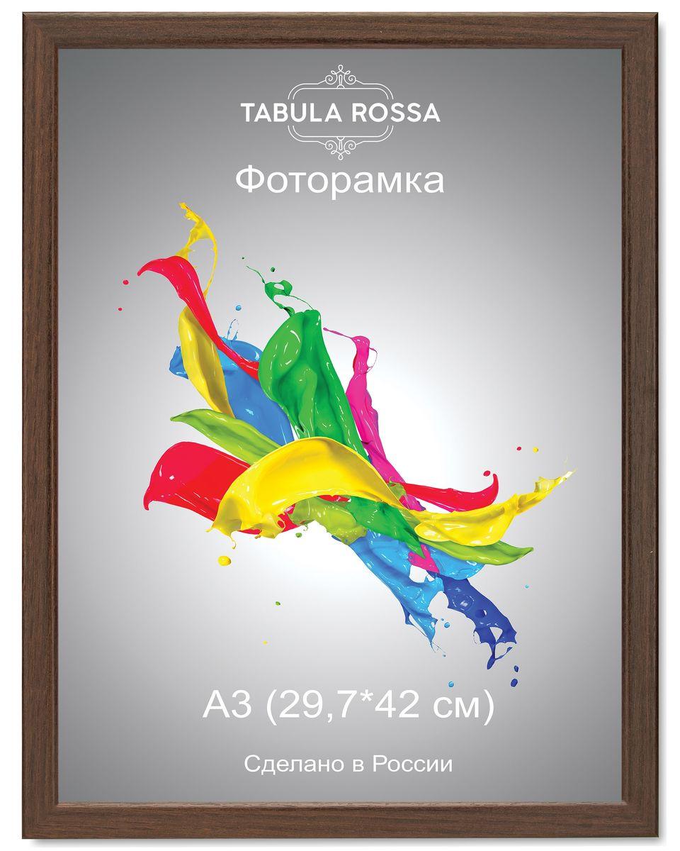Фоторамка Tabula Rossa, цвет: венге, 29,7 х 42 см. ТР 6030ТР 6030Фоторамка Tabula Rossa выполнена в классическом стиле из высококачественного МДФ и стекла, защищающего фотографию. Оборотная сторона рамки оснащена специальной ножкой, благодаря которой ее можно поставить на стол или любое другое место в доме или офисе. Также изделие дополнено двумя специальными креплениями для подвешивания на стену. Такая фоторамка не теряет своих свойств со временем, не деформируется и не выцветает. Она поможет вам оригинально и стильно дополнить интерьер помещения, а также позволит сохранить память о дорогих вам людях и интересных событиях вашей жизни.