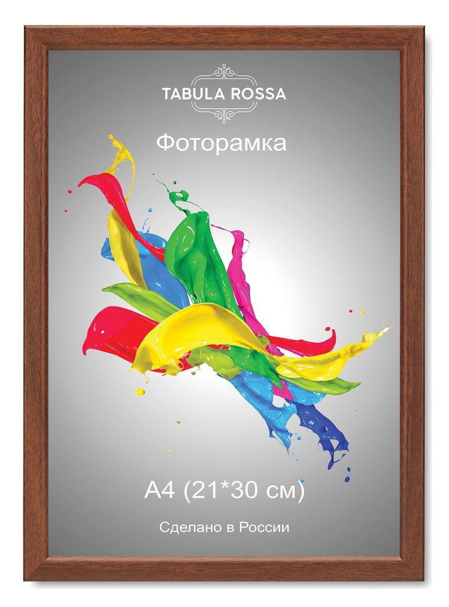 Фоторамка Tabula Rossa, цвет: орех, 21 х 30 см. ТР 6038ТР 6038Фоторамка Tabula Rossa выполнена в классическом стиле из высококачественного МДФ и стекла, защищающего фотографию. Оборотная сторона рамки оснащена специальной ножкой, благодаря которой ее можно поставить на стол или любое другое место в доме или офисе. Также изделие дополнено двумя специальными креплениями для подвешивания на стену. Такая фоторамка не теряет своих свойств со временем, не деформируется и не выцветает. Она поможет вам оригинально и стильно дополнить интерьер помещения, а также позволит сохранить память о дорогих вам людях и интересных событиях вашей жизни.