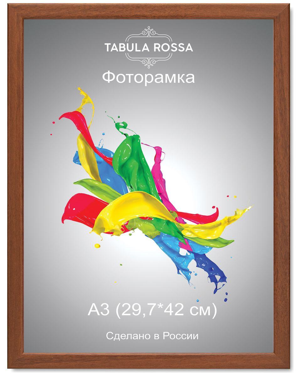 Фоторамка Tabula Rossa, цвет: орех, 29,7 х 42 см. ТР 6039ТР 6039Фоторамка Tabula Rossa выполнена в классическом стиле из высококачественного МДФ и стекла, защищающего фотографию. Оборотная сторона рамки оснащена специальной ножкой, благодаря которой ее можно поставить на стол или любое другое место в доме или офисе. Также изделие дополнено двумя специальными креплениями для подвешивания на стену. Такая фоторамка не теряет своих свойств со временем, не деформируется и не выцветает. Она поможет вам оригинально и стильно дополнить интерьер помещения, а также позволит сохранить память о дорогих вам людях и интересных событиях вашей жизни.
