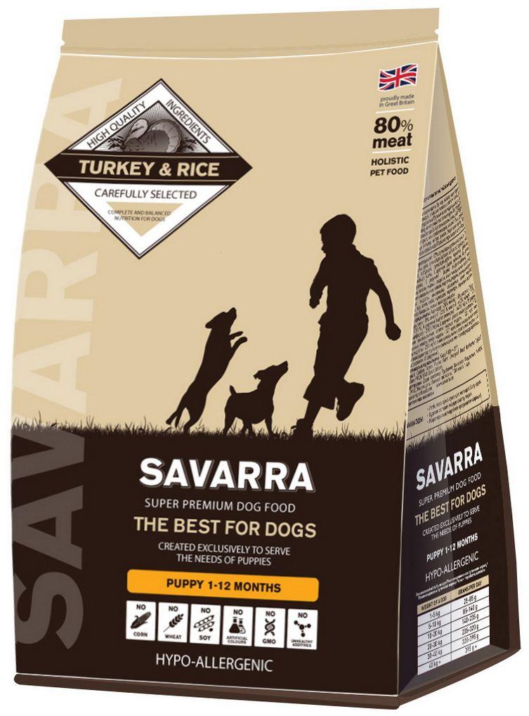 Корм сухой Savarra для щенков, с индейкой и рисом, 3 кг5649001Сухой корм Savarra - это гипоаллергенный полнорационный корм для щенков всех пород. Изготовлен на основе свежего мяса индейки, мяса наиболее диетического и нежного, обладающего прекрасной усвояемостью и содержанием питательных веществ. Питание для щенков Savarra полностью способно удовлетворить все потребности растущего организма животного в питательных веществах, витаминах и минералах. Состав: свежее мясо индейки, дегидрированное мясо индейки, коричневый рис, овес, ячмень, дегидрированное мясо лосося, жир индейки, семена льна, горох, дегидрированное яйцо, натуральный ароматизатор, масло лосося, витамин А (ретинола ацетат), витамин D3 (холекальциферол), витамин Е (альфа-токоферола ацетат), аминокислотный хелат цинка гидрат, аминокислотный хелат железа гидрат, аминокислотный хелат марганца гидрат, аминокислотный хелат меди гидрат, помидоры, цикорий, экстракт зеленых мидий, соль, яблоко, морковь, клюква, черника, шпинат, петрушка, розмарин, морские водоросли, экстракт...