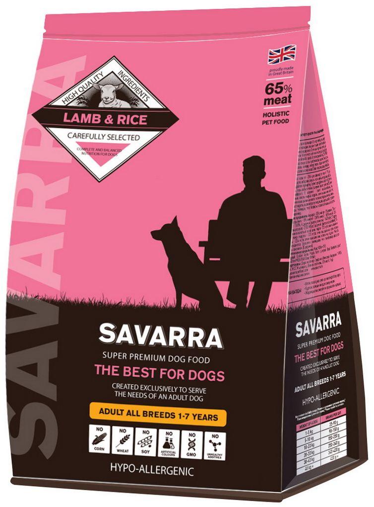 Корм сухой Savarra для взрослых собак, с ягненком и рисом, 3 кг5649051Сухой корм Savarra - это гипоаллергенный полнорационный корм для взрослых собак всех пород. Изготовлен на основе свежего мяса ягненка. Мясо ягненка прекрасно усваивается и содержит достаточное для организма количество животных жиров, питательных веществ и микроэлементов. В рационе корма количество белка оптимально для потребностей взрослого животного – оно не завышено, как в некоторых кормах других торговых марок и не низкое. Особые добавки в виде овощей, ягод и фруктов, снабжают организм необходимыми микроэлементами, заботясь о здоровье собаки. Состав: свежее мясо ягненка, дегидрированное мясо ягненка, коричневый рис, овес, ячмень, гороховый белок, жир ягненка, семена льна, горох, дегидрированное яйцо, дегидрированное мясо лосося, натуральный ароматизатор, просо, масло лосося, витамин А (ретинола ацетат), витамин D3 (холекальциферол), витамин Е (альфа-токоферола ацетат), аминокислотный хелат цинка гидрат, аминокислотный хелат железа гидрат, аминокислотный хелат марганца...