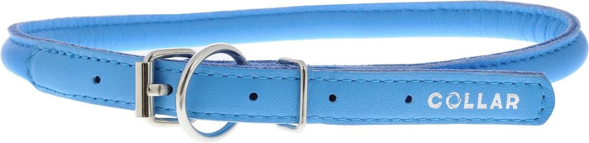 Ошейник для собак CoLLaR Glamour, цвет: голубой, диаметр 1 см, обхват шеи 39-47 см35062Ошейник для собак CoLLaR Glamour изготовлен из натуральной кожи. Ошейник устойчив к влажности и перепадам температур. Сверхпрочные нити, крепкие металлические элементы делают ошейник надежным и долговечным. Обхват ошейника регулируется при помощи пряжки. Ошейник оснащен металлическим кольцом для крепления поводка. Изделие отличается высоким качеством, удобством и универсальностью. Минимальный обхват шеи: 39 см. Максимальный обхват шеи: 47 см. Диаметр ошейника: 1 см. Длина ошейника: 51 см.