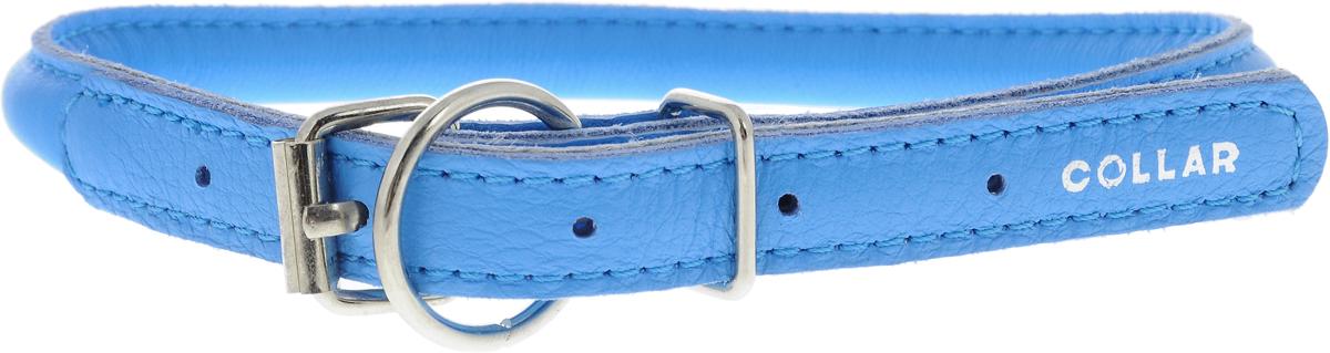 Ошейник для собак CoLLaR Glamour, цвет: голубой, диаметр 1 см, обхват шеи 33-41 см35052Ошейник для собак CoLLaR Glamour, выполненный из натуральной кожи, устойчив к влажности и перепадам температур. Крепкие металлические элементы делают ошейник надежным и долговечным. Изделие отличается высоким качеством, удобством и универсальностью. Размер ошейника регулируется при помощи пряжки, зафиксированной на одном из 5 отверстий. Минимальный обхват шеи: 33 см. Максимальный обхват шеи: 41 см. Диаметр ошейника: 1 см.