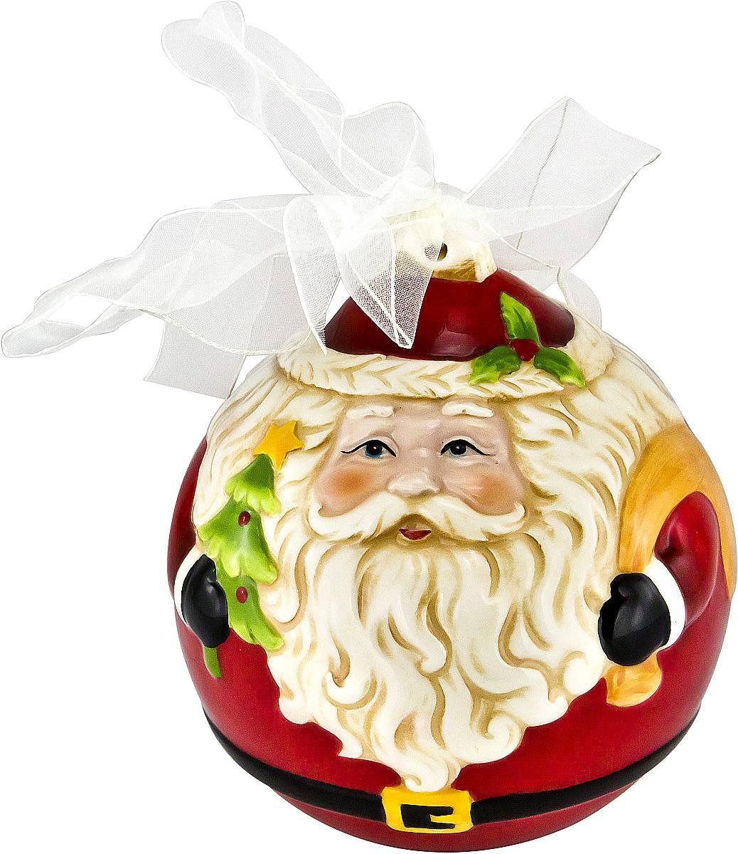 Украшение новогоднее подвесное Mister Christmas Дед Мороз, длина 13,5 смFD-02Новогоднее подвесное украшение Mister Christmas Дед Мороз прекрасно подойдет для праздничного декора новогодней ели. Украшение выполнено из керамики. Для удобного размещения на елке предусмотрена петелька в виде ленты. Елочная игрушка - символ Нового года. Она несет в себе волшебство и красоту праздника. Создайте в своем доме атмосферу веселья и радости, украшая новогоднюю елку нарядными игрушками, которые будут из года в год накапливать теплоту воспоминаний.