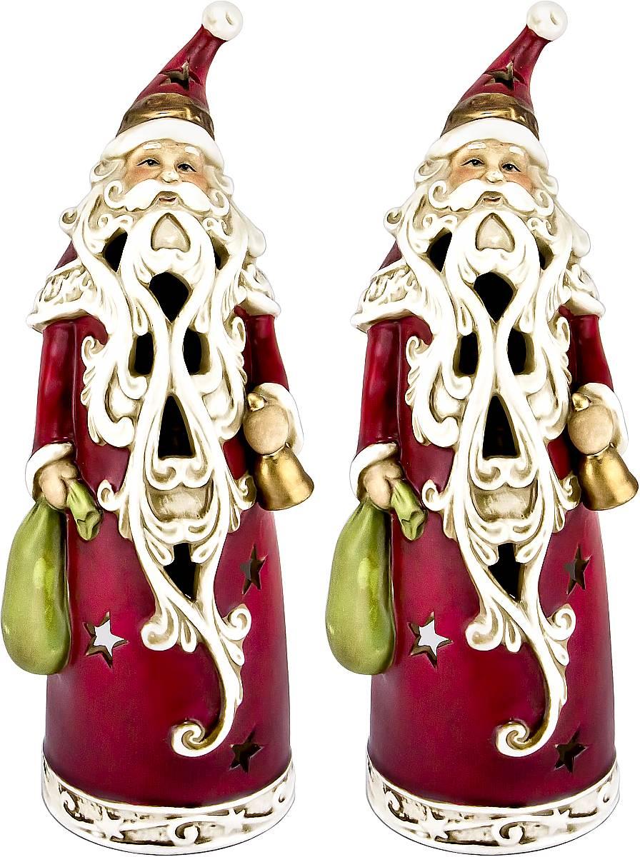 """Набор подсвечников Mister Christmas """"Дед Мороз"""", высота 24 см, 2 шт FD-SET7"""