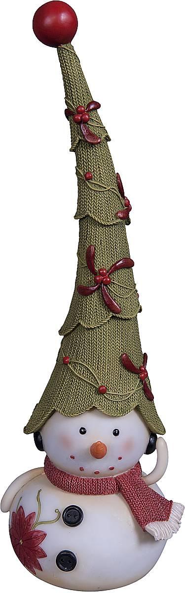Статуэтка Mister Christmas Снеговик, цвет: белый, зеленый, красный, высота 30 смSM-1AСтатуэтка Mister Christmas Снеговик выполнена из полистоуна в виде забавного снеговика. Она привлекает к себе внимание и буквально умиляет, заставляя улыбнуться. Такой сувенир станет отличным подарком родным или друзьям на Новый год, а также он украсит интерьер вашего дома или офиса. Высота статуэтки: 30 см.