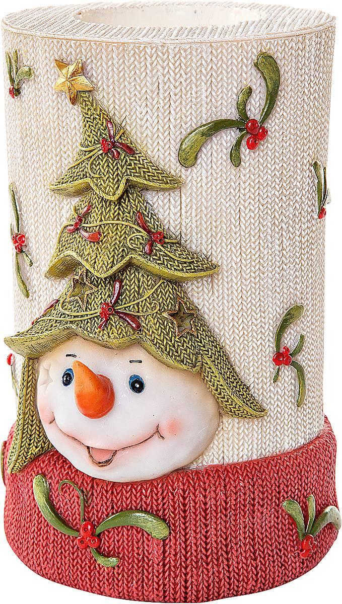 Подсвечник Mister Christmas Снеговик, высота 12 смSM-27Подсвечник Mister Christmas Снеговик выполнен из полистоуна и оснащен углублением для чайной свечи. Оригинальный дизайн и красочное исполнение создадут праздничное настроение. Вы можете поставить такой подсвечник в любом месте, где он будет удачно смотреться, и радовать глаз. Кроме того такой он станет отличным вариант подарка для ваших близких и друзей в преддверии Нового года.
