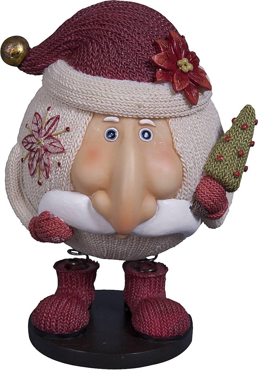 Статуэтка Mister Christmas Дед Мороз, цвет: белый, красный, зеленый, высота 14 смSM-6AСтатуэтка Mister Christmas Дед Мороз выполнена из полистоуна в виде забавного Деда Мороза на пружинках. Она привлекает к себе внимание и буквально умиляет, заставляя улыбнуться. Такой сувенир станет отличным подарком родным или друзьям на Новый год, а также он украсит интерьер вашего дома или офиса. Высота статуэтки: 14 см.