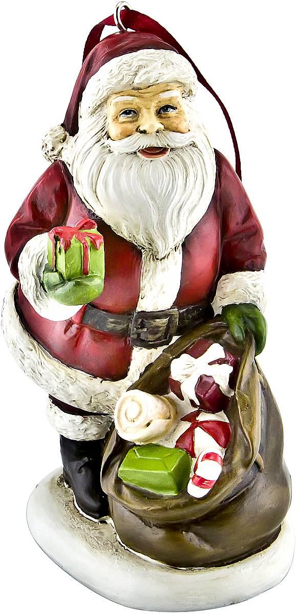 Украшение новогоднее подвесное Mister Christmas Дед Мороз, высота 10 см. TM-A-2TM-A-2Украшение новогоднее декоративное Mister Christmas Дед Мороз прекрасно подойдет для праздничного декора вашего дома. Изделие выполнено из полистоуна и оснащено петелькой для подвешивания. Новогодние украшения несут в себе волшебство и красоту праздника. Они помогут вам украсить дом к предстоящим праздникам и оживить интерьер. Создайте в доме атмосферу тепла, веселья и радости, украшая его всей семьей. Кроме того, такая игрушка станет приятным подарком, который надолго сохранит память этого волшебного времени года. Высота украшения: 10 см.