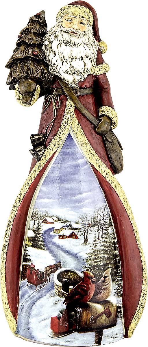 Фигурка новогодняя декоративная Mister Christmas Дед Мороз, высота 22 смTM-D-1Декоративная фигурка Дед Мороз изготовлена из полистоуна в виде Деда Мороза с елкой. На украшение нанесен яркий новогодний рисунок. Фигурка является эксклюзивной, так как сделана вручную. Такое фигурка станет украшением для новогодней елки, да и просто, для создания праздничной атмосферы в интерьере! Оригинальный дизайн и красочное исполнение создадут праздничное настроение. Порадуйте своих друзей и близких этим замечательным подарком! Высота фигурки: 22 см.