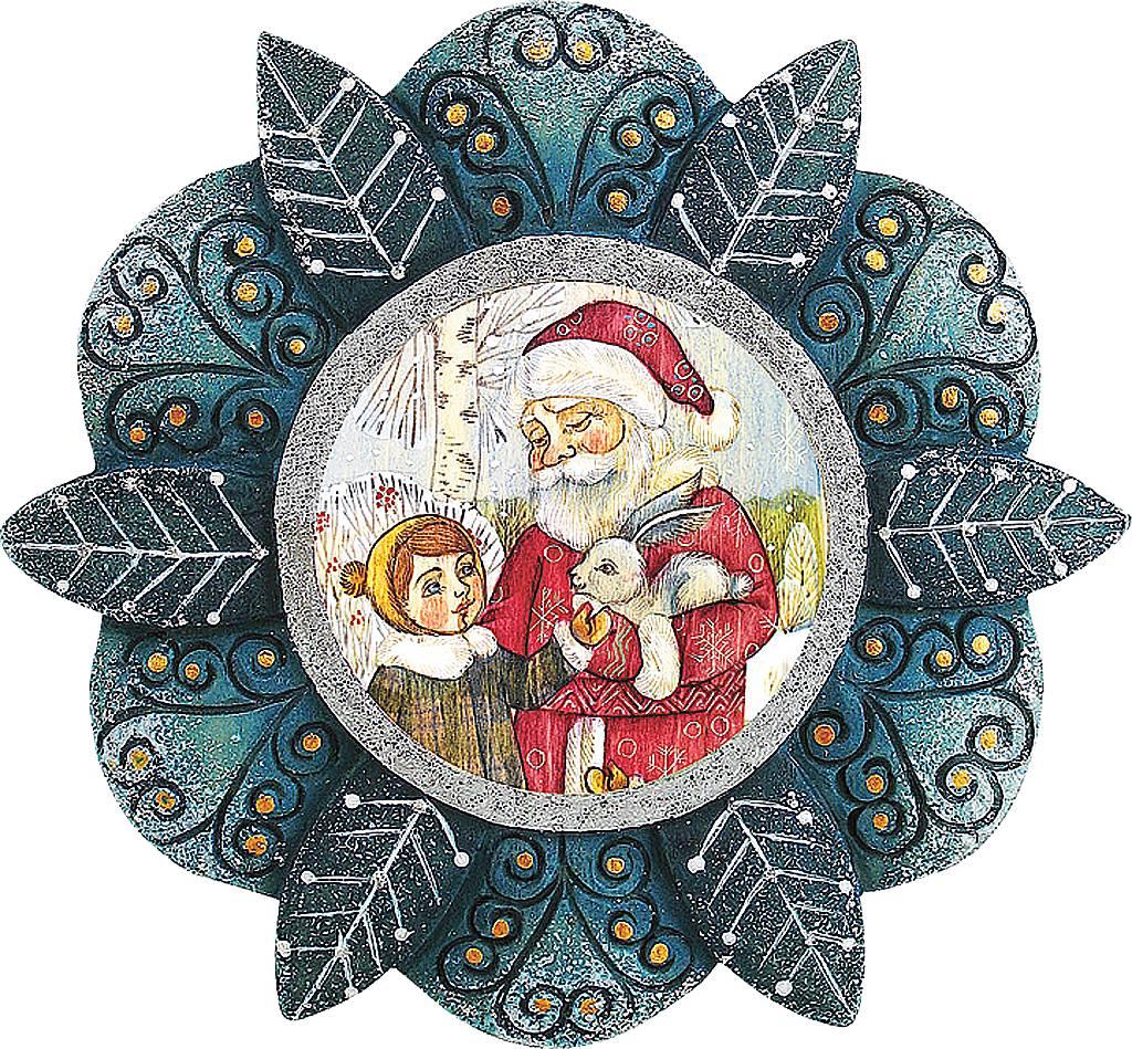 Украшение новогоднее подвесное Mister Christmas Дед Мороз, малыш и заяц, коллекционное, высота 10 см. US 6102184US 6102184Украшение Mister Christmas Дед Мороз, малыш и заяц будет изящно смотреться на фоне зеленой хвои, будь она настоящей или искусственной. Изделие выполнено из полистоуна и дополнено надежным креплением, за счёт которого игрушка фиксируется на елке. Новогоднее украшение Mister Christmas оформит интерьер вашего дома или офиса в преддверии Нового года. А также станет отличным решением новогоднего подарка для ваших друзей и коллег. Высота: 10 см.
