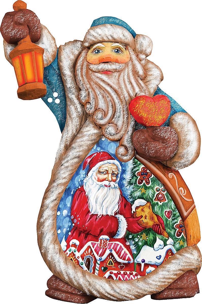Украшение новогоднее подвесное Mister Christmas Дед Мороз, коллекционное, высота 10 см. US 661211US 661211Коллекционное украшение Mister Christmas Дед Мороз прекрасно подойдет для праздничного декора вашего дома. Изделие выполнено из полистоуна и оснащено петелькой для подвешивания. Новогодние украшения несут в себе волшебство и красоту праздника. Они помогут вам украсить дом к предстоящим праздникам и оживить интерьер. Создайте в доме атмосферу тепла, веселья и радости, украшая его всей семьей. Кроме того, такая игрушка станет приятным подарком, который надолго сохранит память этого волшебного времени года. Высота украшения: 10 см.