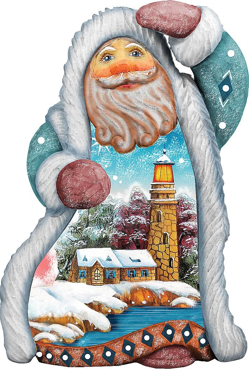 Украшение новогоднее подвесное Mister Christmas Дед Мороз. Дом с башней, коллекционное, высота 10 смUS 661511Коллекционное украшение Mister Christmas Дед Мороз. Дом с башней прекрасно подойдет для праздничного декора вашего дома. Изделие выполнено из полистоуна и оснащено петелькой для подвешивания. Новогодние украшения несут в себе волшебство и красоту праздника. Они помогут вам украсить дом к предстоящим праздникам и оживить интерьер. Создайте в доме атмосферу тепла, веселья и радости, украшая его всей семьей. Кроме того, такая игрушка станет приятным подарком, который надолго сохранит память этого волшебного времени года. Высота украшения: 10 см.