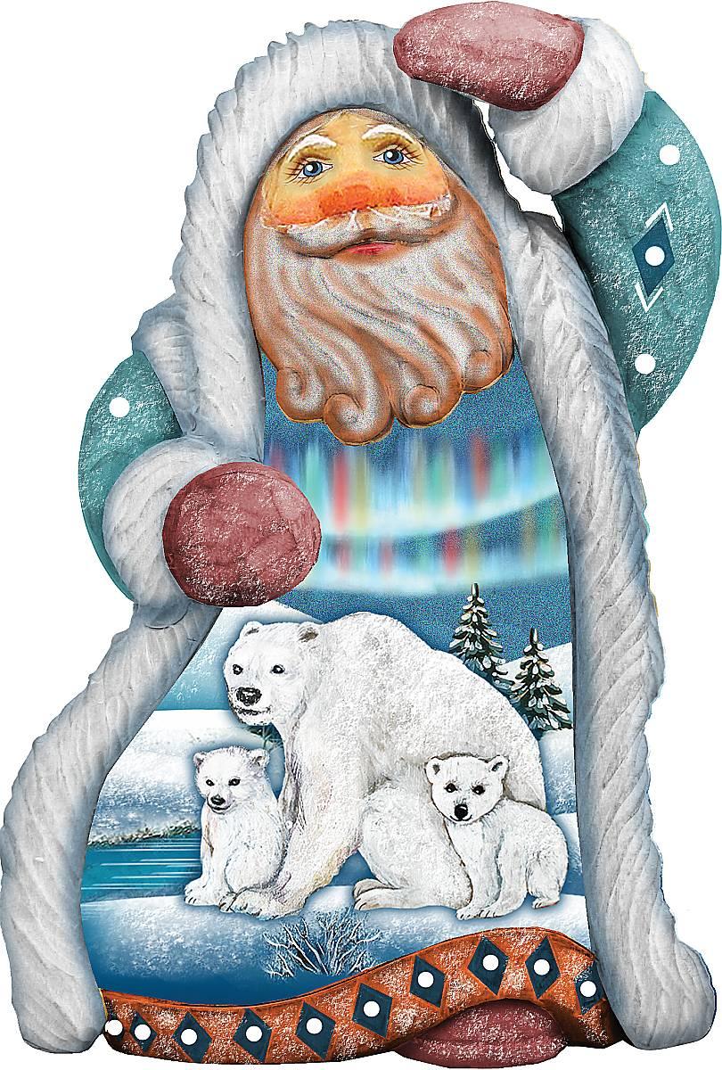Украшение новогоднее подвесное Mister Christmas Дед Мороз. Белые медведи, коллекционное, высота 10 смUS 661512Коллекционное украшение Mister Christmas Дед Мороз. Белые медведи прекрасно подойдет для праздничного декора вашего дома. Изделие выполнено из полистоуна и оснащено петелькой для подвешивания. Новогодние украшения несут в себе волшебство и красоту праздника. Они помогут вам украсить дом к предстоящим праздникам и оживить интерьер. Создайте в доме атмосферу тепла, веселья и радости, украшая его всей семьей. Кроме того, такая игрушка станет приятным подарком, который надолго сохранит память этого волшебного времени года. Высота украшения: 10 см.