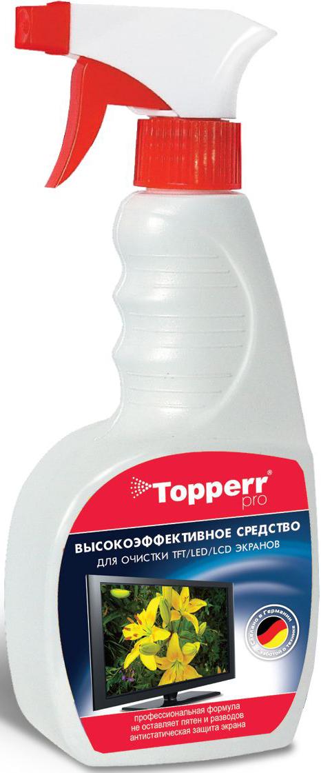 """Спрей """"Topperr"""" для ухода за экранами ЖК, LCD и плазмы, 500 мл 3001"""
