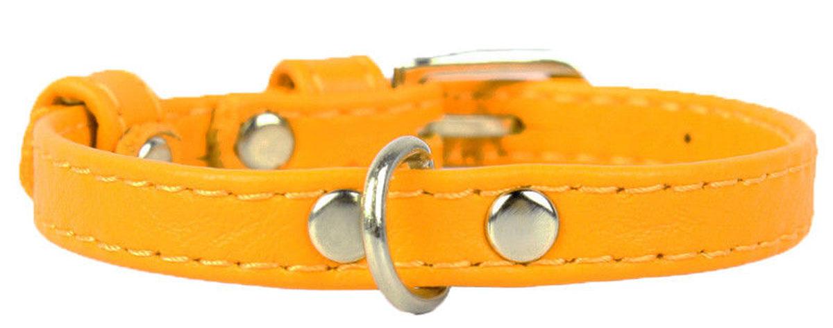 Ошейник CoLLaR Glamour, цвет: желтый, ширина 9 мм, длина 19-25 см. 3201832018Ошейник CoLLaR GLAMOUR без украшений (ширина 9мм, длина 19-25см) желтый