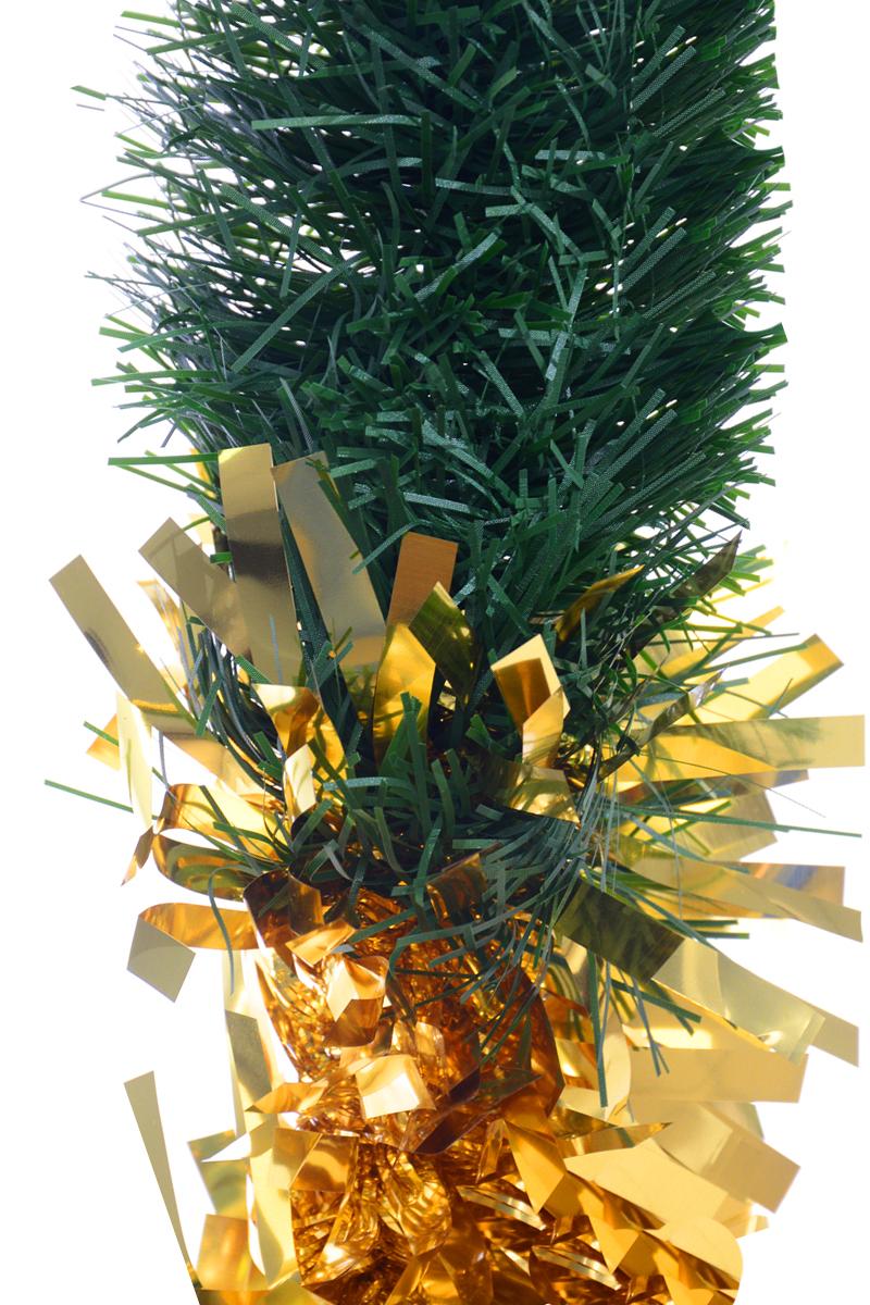Мишура новогодняя Moranduzzo, цвет: золотистый, зеленый, диаметр 18 см, длина 2,5 м190810405Новогодняя мишура Moranduzzo, выполненная из ПВХ, поможет вам украсить свой дом к предстоящим праздникам. Мишура армирована, то есть имеет проволоку внутри и способна сохранять форму. Новогодняя елка с таким украшением станет еще наряднее. Новогодней мишурой можно украсить все, что угодно - елку, квартиру, дачу, офис - как внутри, так и снаружи. Можно сложить новогодние поздравления, буквы и цифры, мишурой можно украсить и дополнить гирлянды, можно выделить дверные колонны, оплести дверные проемы.