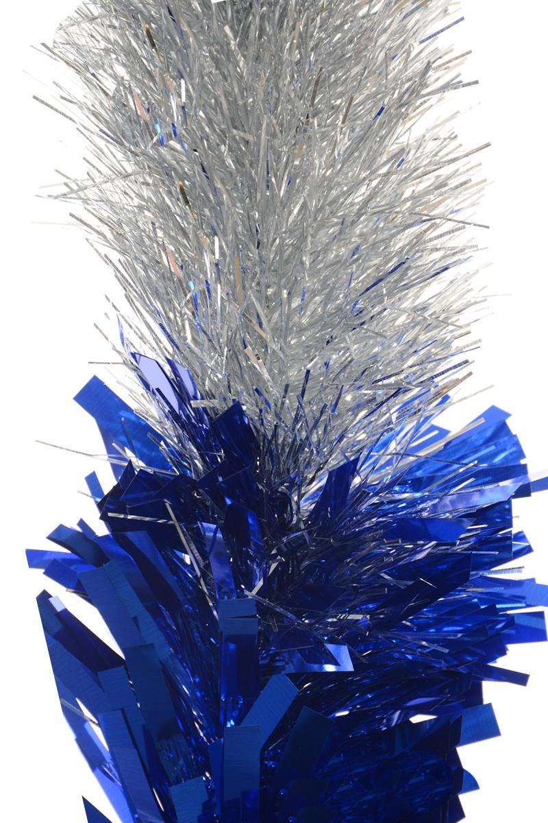 Мишура новогодняя Moranduzzo, цвет: серебристый, синий, диаметр 18 см, длина 2,5 м192810104Новогодняя мишура Moranduzzo, выполненная из ПВХ, поможет вам украсить свой дом к предстоящим праздникам. Мишура армирована, то есть имеет проволоку внутри и способна сохранять форму. Новогодняя елка с таким украшением станет еще наряднее. Новогодней мишурой можно украсить все, что угодно - елку, квартиру, дачу, офис - как внутри, так и снаружи. Можно сложить новогодние поздравления, буквы и цифры, мишурой можно украсить и дополнить гирлянды, можно выделить дверные колонны, оплести дверные проемы.
