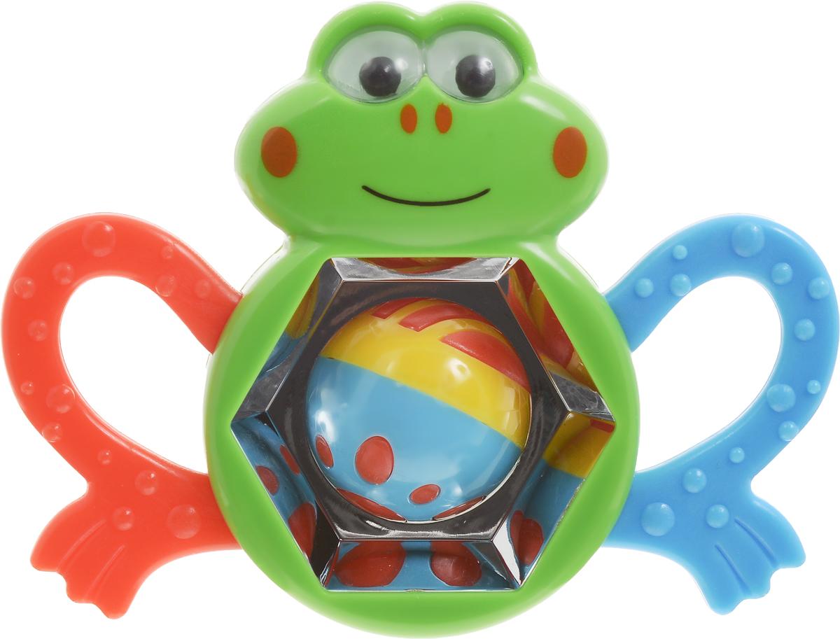 Умка Погремушка ЛягушкаU01-RПогремушка Умка Лягушка призвана помочь в раннем развитии ребенка. Она выполнена в виде лягушонка с большими лапками. Обе лапки выполнены в разных цветах, имеют рельефную поверхность и выполняют функции прорезывателя. Из особенностей изделия можно выделить небольшое зеркальце, миниатюрные шарики, которые будут весело греметь, если встряхнуть игрушку, а также стильный дизайн и приятный внешний вид. Лягушонок весело улыбается, а его глазки передвигаются влево и вправо, вверх и вниз. Игрушка изготовлена из безопасного пластика. Развивает тактильное, слуховое и зрительное восприятия.