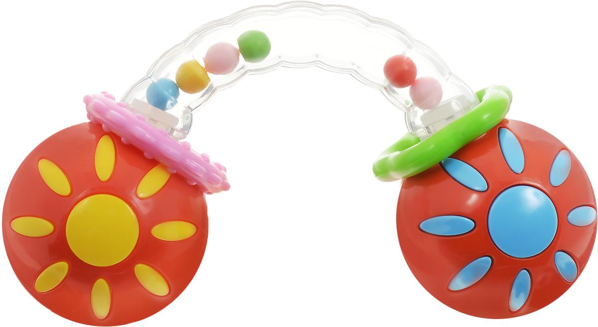 Умка Погремушка ГантелькаU02-RПогремушка Умка Гантелька прекрасно подойдет для раннего развития ребенка. Игрушка способна привлечь внимание малыша не только забавным звуковым эффектом, но яркой расцветкой и стильным запоминающимся дизайном, представленным в виде гантельки. Два шарика соединяются между собой полукруглой рельефной прозрачной трубкой, в которой перемещаются разноцветные шарики. Кроме того, на трубку нанизаны два пластиковых колечка. Погремушка способствует развитию слуха и мелкой моторики. Яркие цвета привлекают внимание. Выполнено изделие из прочного безопасного материала с использованием пищевых красителей. Уважаемые клиенты! Обращаем ваше внимание на ассортимент в цвете товара. Поставка возможна в зависимости от наличия на складе.