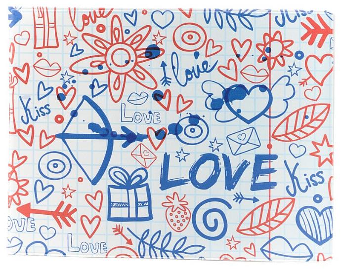 Обложка для зачетной книжки Kawaii Factory Тетрадный лист, цвет: белый, синий. KW067-000043KW067-000043