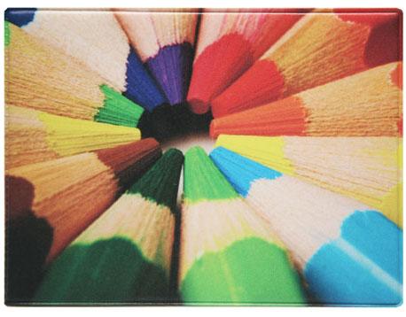 Обложка для студенческого Kawaii Factory Цветные карандаши, цвет: черный. KW067-000015KW067-000015