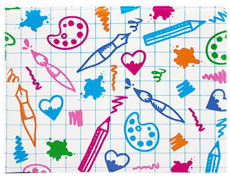 Обложка для студенческого Kawaii Factory Урок рисования, цвет: белый, голубой. KW067-000046KW067-000046