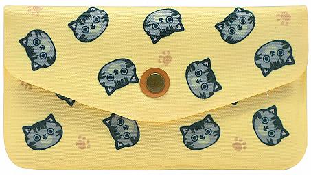 Кошелек женский Kawaii Factory Кошки, цвет: желтый. KW057-000596KW057-000596