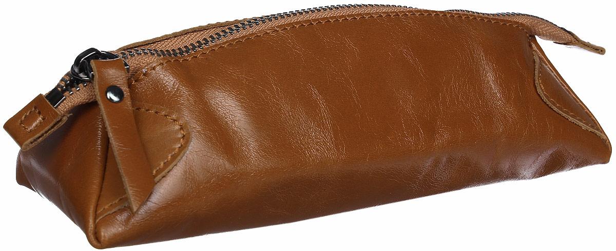 Косметичка женская Cheribags, цвет: коричневый. К-42-28К-42-28Косметичка Cheribags выполнена из натуральной кожи и закрывается на застежку-молнию. Внутри расположено отделение для косметики.