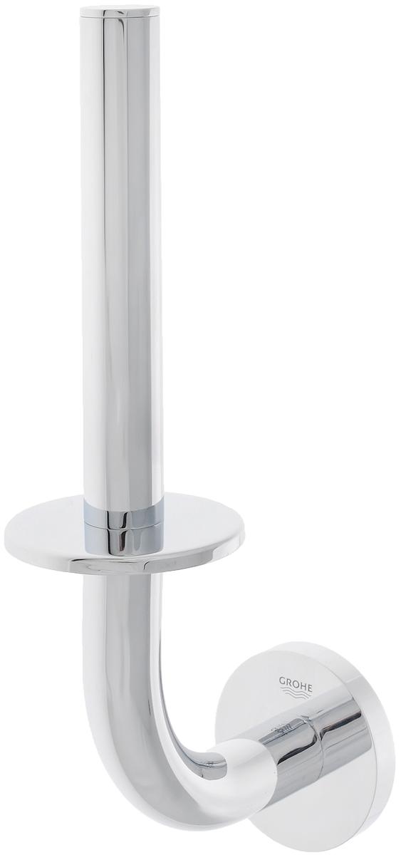 Держатель для запасного рулона туалетной бумаги Grohe Essentials40385001Держатель Grohe Essentials предназначен специально для запасного рулона туалетной бумаги. Изделие выполнено из высококачественного металла и имеет скрытое крепление. Благодаря строгому и лаконичному дизайну, а также ослепительному хромированному покрытию StarLight он будет великолепно смотреться в интерьере вашей ванной комнаты долгие годы.