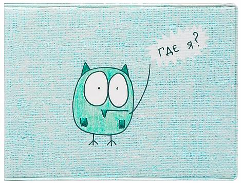 Обложка для студенческого билета Kawaii Factory Где я?, цвет: голубой. KW067-000060KW067-000060Обложка для студенческого билета Kawaii Factory Где я? выполнена из легкого и прочного ПВХ, который надежно защищает важные документы от пыли и влаги. Рисунок нанесён специальным образом и защищён от стирания. Изделие раскладывается пополам. Внутри размещены два накладных прозрачных кармашка.