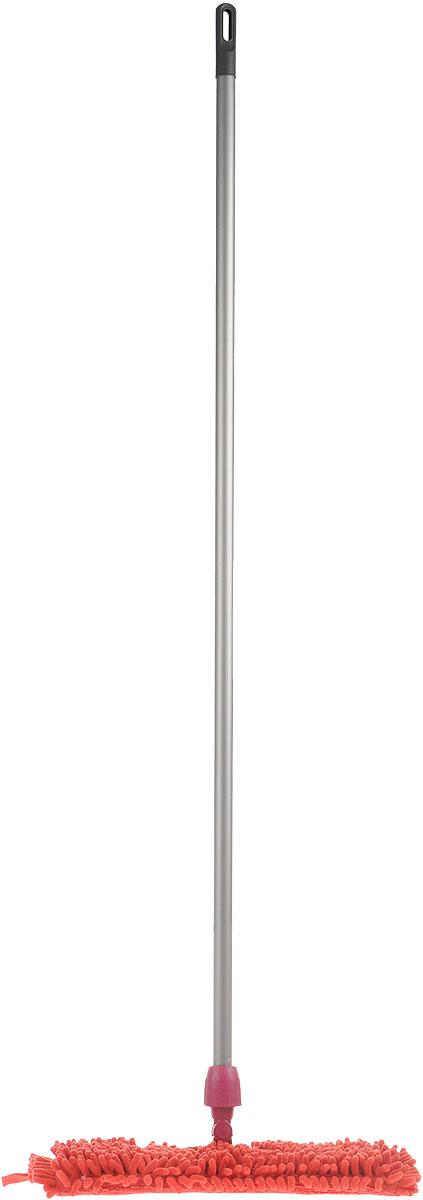 Швабра Мир чистоты Синель Дуо, двусторонняя с прорезиненной ручкой, цвет: малиновый, длина 118 смEK026Двусторонняя швабра Мир чистоты Синель Дуо с насадкой из микрофибры широко используется для сухой и влажной уборки любых напольных поверхностей. Благодаря уникальным свойствам микрофибры сухая насадка легко удаляет пыль и в три раза лучше впитывает влагу, чем обычный хлопок. Насадку легко снять с помощью липучек. Прорезиненная алюминиевая ручка удобно и надежно будет лежать в руке. Швабра Мир чистоты Синель Дуо - лучший помощник в доме! Длина швабры: 118 см. Размер насадки: 36 х 13 х 2 см.