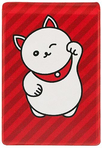 Обложка для проездного Kawaii Factory Манэки-Нэко, цвет: красный. KW065-000053KW065-000053